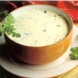 Cremet kyllinge suppe med gr?ntsager