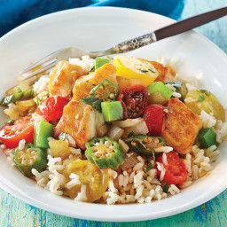 Creole Chicken and Okra