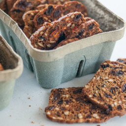 Crisp Rosemary Raisin Crackers