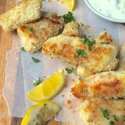 Crispy Baked Fish Sticks with Homemade Tartar Sauce