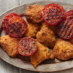 Crispy Grilled Chicken Thighs