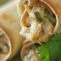 Crispy Homemade Chicken Taquitos with Cilantro and Pepper-Jack Cheese