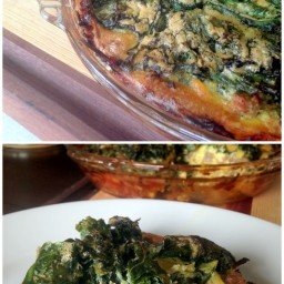 Crispy Kale and Sausage Quiche with Sweet Potato Crust {Paleo and Whole30 C