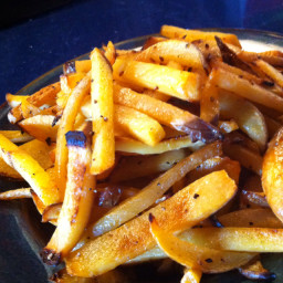 Crispy Turnip Fries - Baked