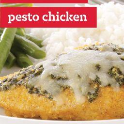 Crispy Baked Pesto Chicken