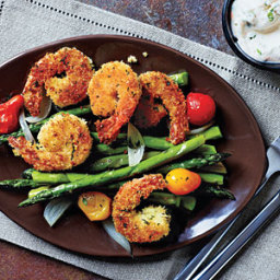 Crispy Herbed Shrimp with Chive Aioli
