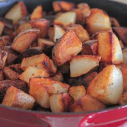 Crispy Pan Roasted Potatoes
