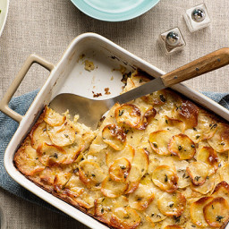 Crispy Potato-Leek Kugel