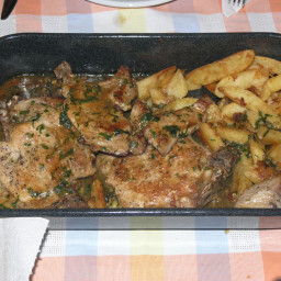 "Croatian ""Samobor pork chops"""