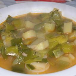 "Croatian leek stew (""poriluk cušpajz"")"