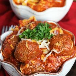Crock Pot Cheesy Meatball Tortellini