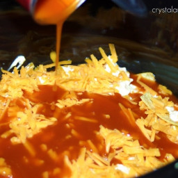 Crock pot chicken enchalida cassrole
