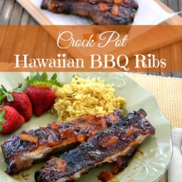 Crock Pot Hawaiian BBQ Ribs
