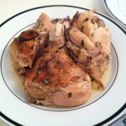Crock Pot Lemon Garlic Chicken