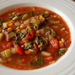 Crock Pot Spinach-Tomato-Vegetable Soup