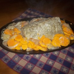 Crock Pot Sweet Potato Apple Pork Roast