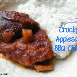 Crockpot Applesauce BBQ Chicken