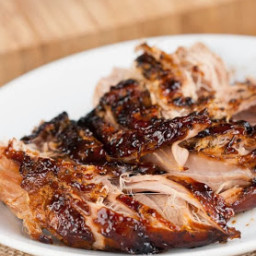 Crockpot Brown Sugar Balsamic Glazed Pork Tenderloin