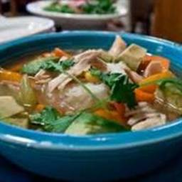Crockpot Chicken Vegetable &Brown Rice Soup