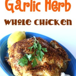 Crockpot Garlic Herb Whole Chicken Recipe!