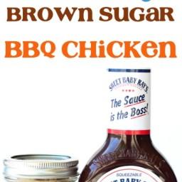 Crockpot Hickory BBQ Brown Sugar Chicken Recipe!