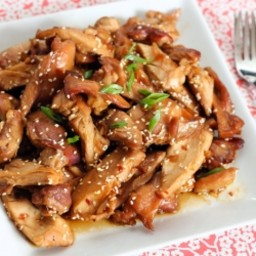 Honey Bourbon Chicken (Crockpot)