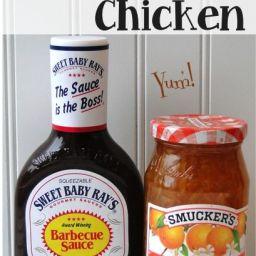 Crockpot Orange BBQ Chicken