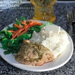 Crock Pot Pesto Ranch Chicken Thighs