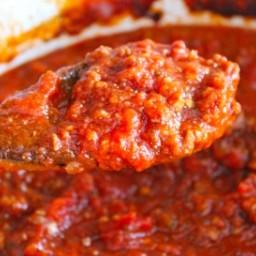 Crockpot Spaghetti Meat Sauce