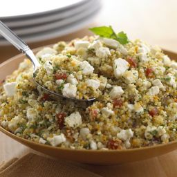 Crumbled Feta Couscous Salad