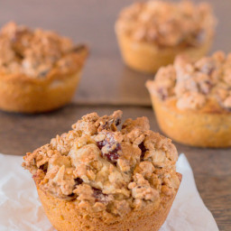 Crunchy Cashew and Cranberry Streusel Granola Muffins