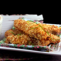Crunchy Coconut Lime Chicken Strips (or nuggets)
