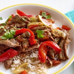 Cuban-Style Braised Steak and Peppers