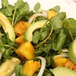 Cuban Avocado, Watercress, and Pineapple Salad (Ensalada de Aguacate, Berro