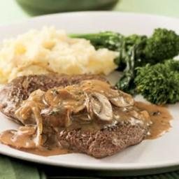 Cube Steak with Mushroom-Sherry Sauce