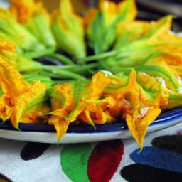 Cucuchitas stuffed squash blossoms by almademitierra