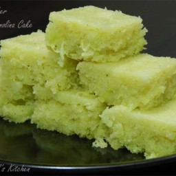 Cucumber Semolina Cake ( No Maida No Sugar Cake Recipe )