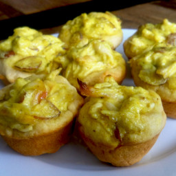 Curried Chicken and Almond Cups
