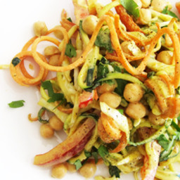 Curried Chickpea and Veggie Noodle Salad