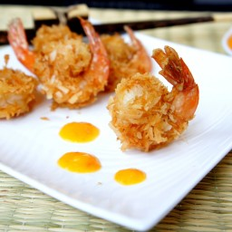 Curried Coconut Fried Shrimp and Sweet Mango Chili Sauce