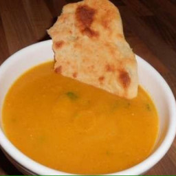 Curried parsnip soup with flatbreads