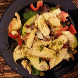Curried Pear, Pistachio and Grilled Chicken Salad