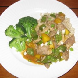 Curried Pork and Mango Stir Fry