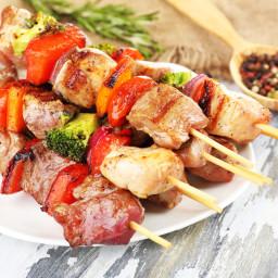 Curry-Lime Pork Kebabs