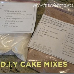 D.I.Y. Chocolate and Yellow Cake Mixes