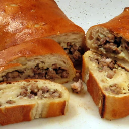 Dads famous sausage bread