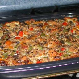 "Dad's ""Wakeup Makeup"" Breakfast Casserole"