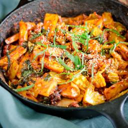 Dak Galbi, spicy chicken of Chuncheon