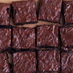 Dark-Chocolate Spelt Brownies