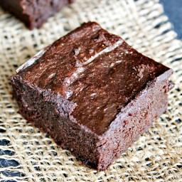 Dark Chocolate {flourless} Avocado Brownies